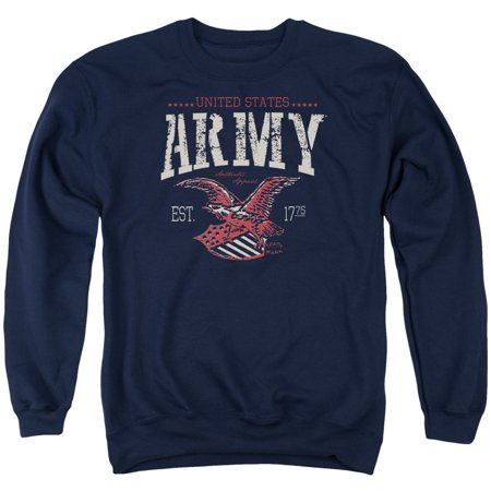 Army United States Established 1775 Arch Red White & Blue Adult Crew Sweatshirt Double Arch Crew Sweatshirt