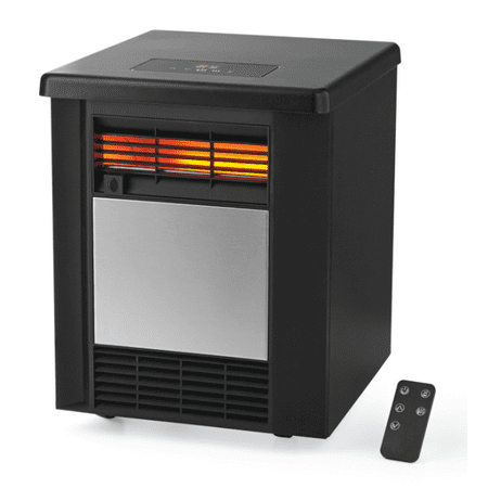 Mainstays 4 Element Infrared Quartz Space 1500W Heater,Indoor,Black,DF1911