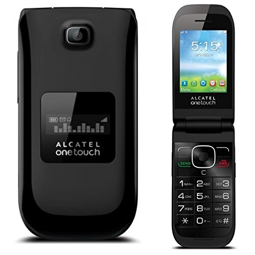 Alcatel Onetouch A392A GSM Unlocked Flip Cell Phone - Black ( Refurbished )