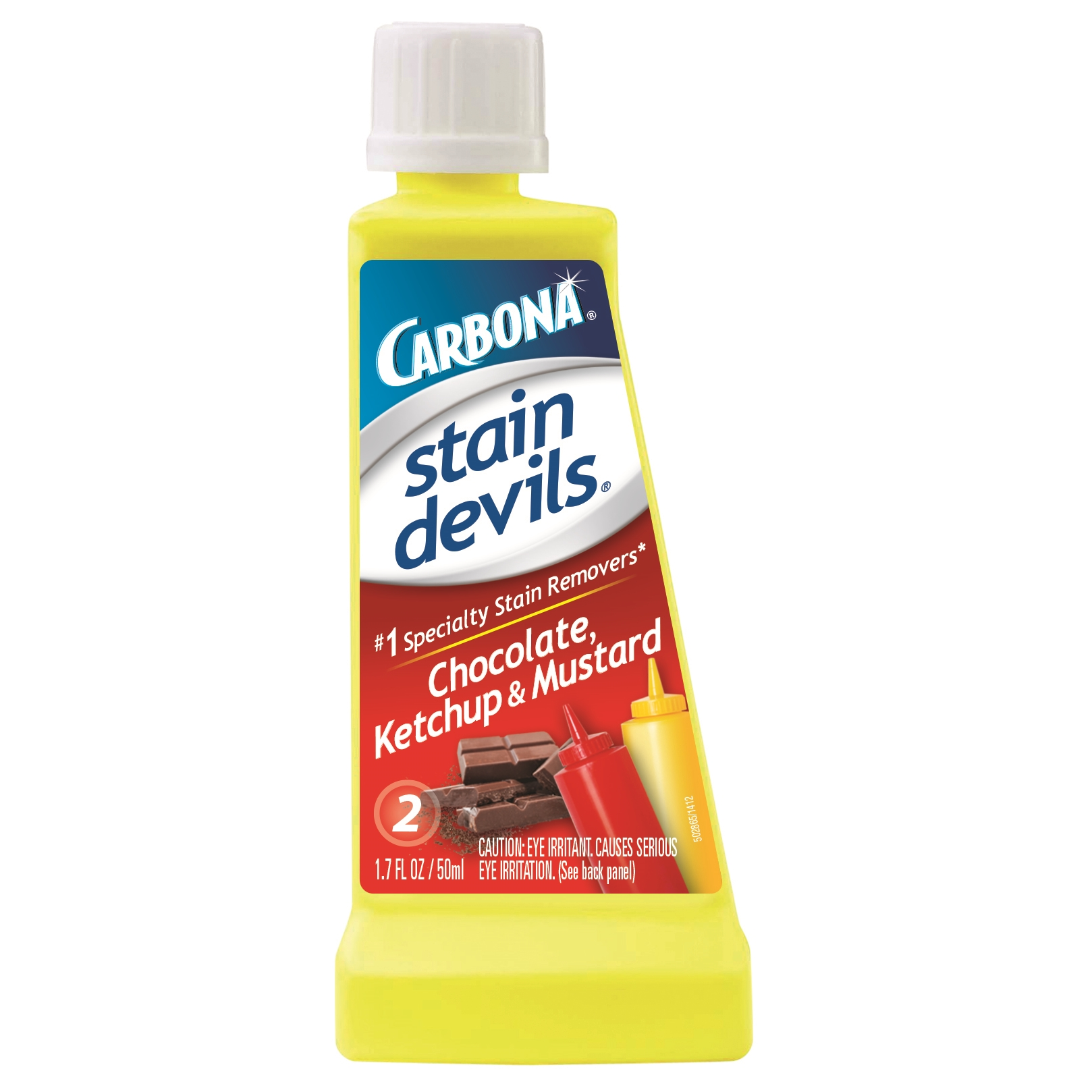 Carbona Stain Devils #2 - Ketchup, Mustard & Chocolate Stain Remover, Stain Remover, Laundry, 1.7 fl oz