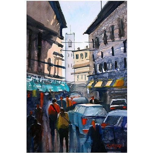 "Trademark Art ""Strangers in Rome"" Canvas Art by Ryan Radke"