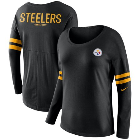 Pittsburgh Steelers Nike Women's Tailgate Long Sleeve T-Shirt - Black Pittsburgh Steelers Nfl Tailgate Table