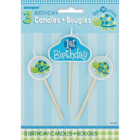 Turtle Birthday Candle Set