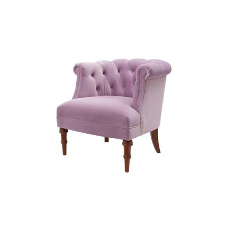 Katherine Tufted Accent Chair, Lavender ()