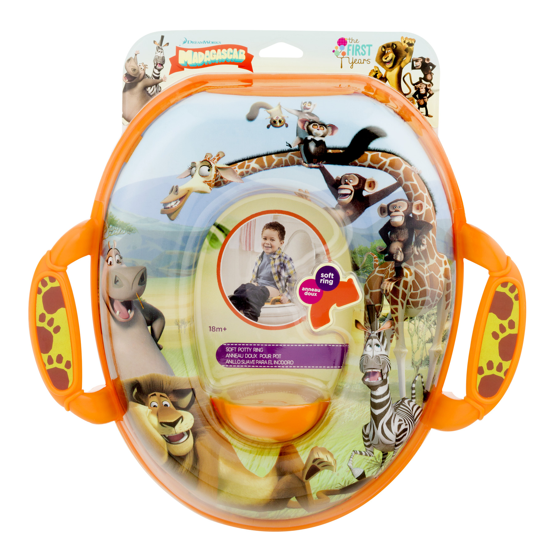 The First Years Dream Works Madagascar Soft Potty Ring 18m+, 1.0 CT