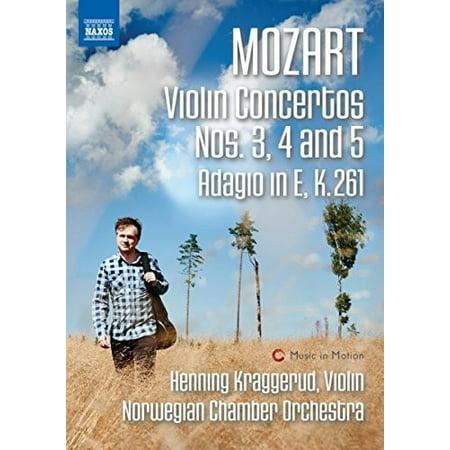 Mozart: Violin Concertos Nos 3-5 & Adagio in E K 261 (Violin Concerto Dvd)