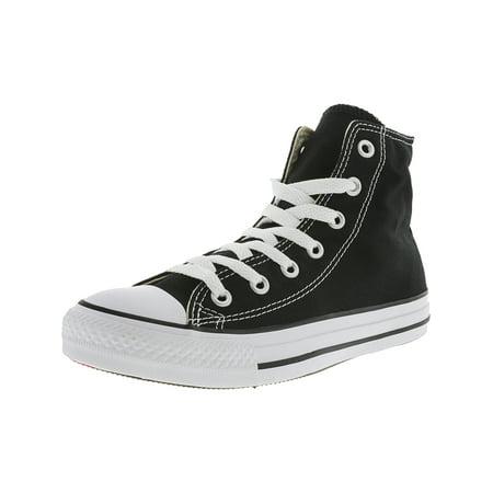 444d6bab787c13 Converse Chuck Taylor All Star High Black   White High-Top Canvas Fashion  Sneaker - 8M 6M - Walmart.com