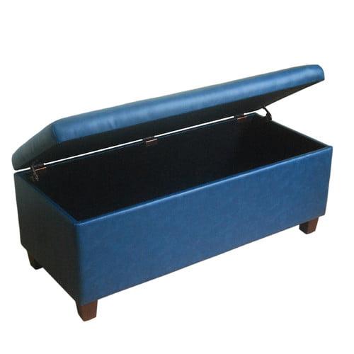 Kinfine USA Large Leatherette Storage Bench