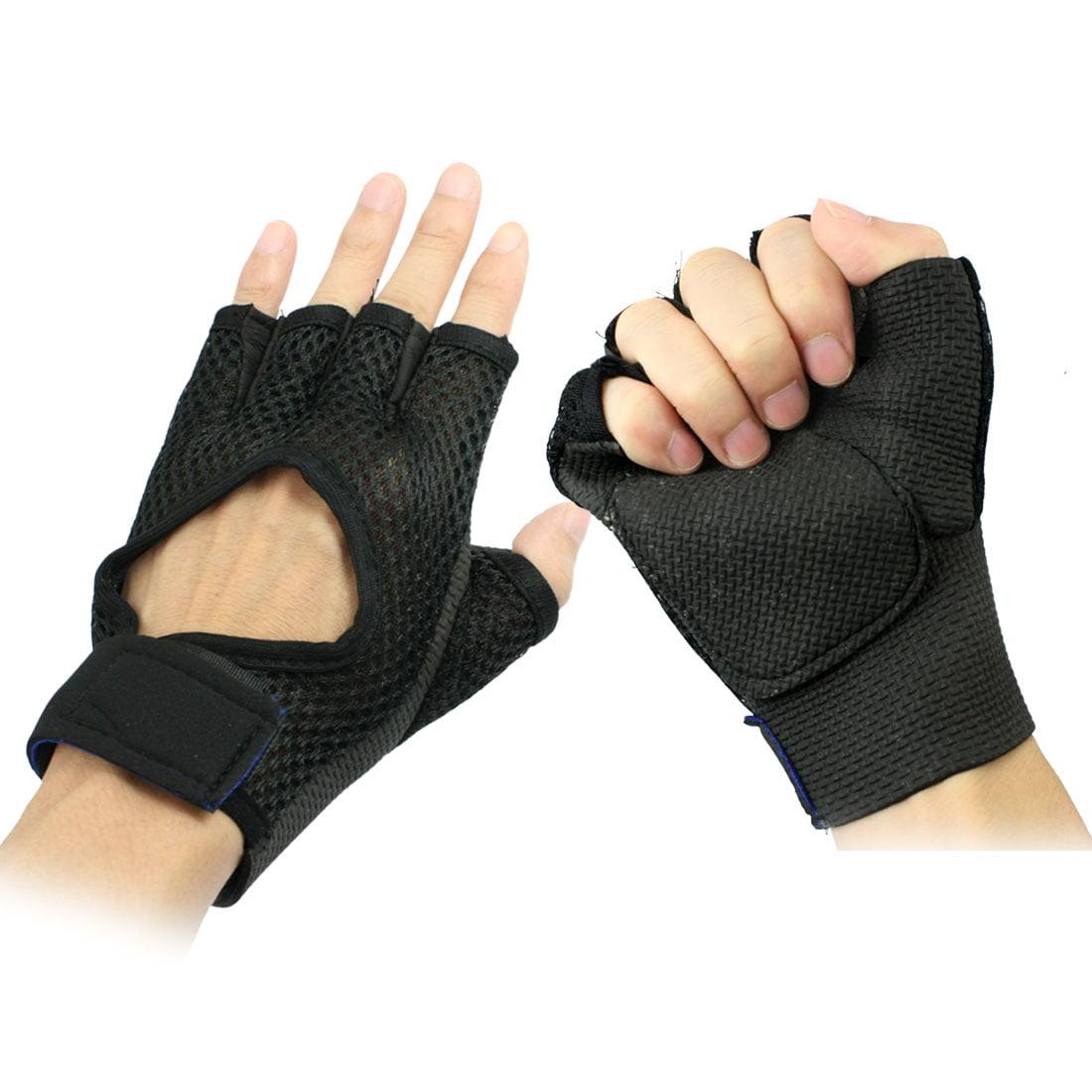 Adult Stretchy Neoprene Rubber Half Finger Sports Glove Paml Protector