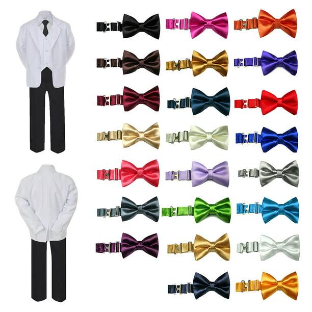 Formal Wedding Color Satin Bow tie /& Cummerbund Set Only Boy Baby Toddler Sm-28