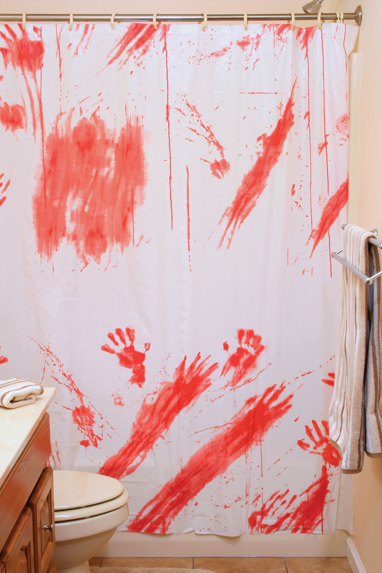 Fun World Bloody Shower Curtain   Walmart.com
