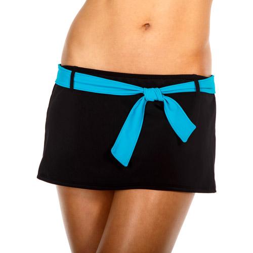 Danskin Now Women's Sporty Belted Skirted Tankini Bottom