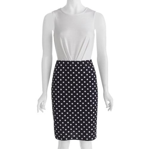 Alexis Taylor Woven Zipper Back Polka Dot Dress