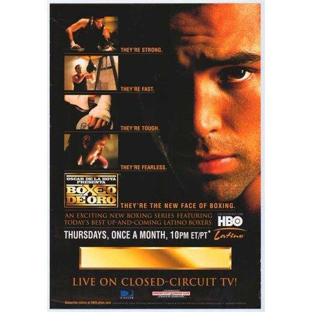 4e3be077c3b1 Oscar De La Hoya presents Boxeo de Oro POSTER Mini Promo - Walmart.com