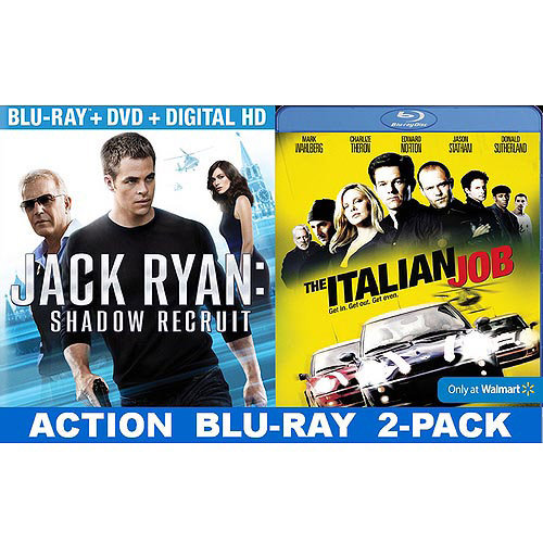 Jack Ryan: Shadow Recruit / The Italian Job (Blu-ray) (Walmart Exclusive) (With INSTAWATCH) (Widescreen)