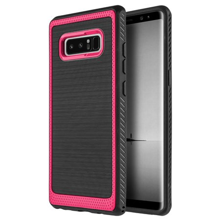 Samsung Galaxy Note 8 Ultra Slim Fit ShockProof Rugged Flexible Protection Durable Anti-Slip, TPU Heavy Impact Shock Absorbent Case for Galaxy Note8 - Red Durable Anti Slip Protection