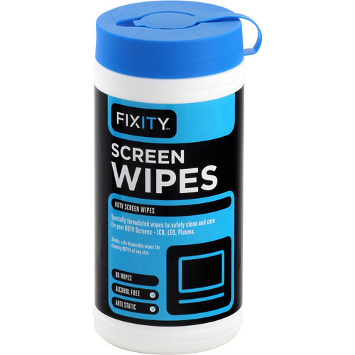 Fixity Clean LCD/Plasma Screen Wipes, 80-Count