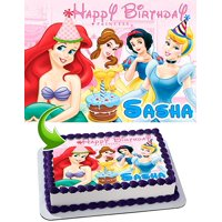 Princess Edible Cake Image Personalized Toppers Icing Sugar Paper A4 Sheet Edible Frosting Photo Cake Topper 1/