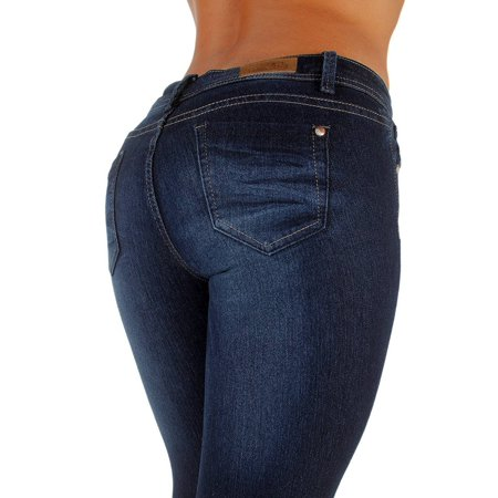 Plus Size, Classic 5 Pockets Washed Skinny Jeans