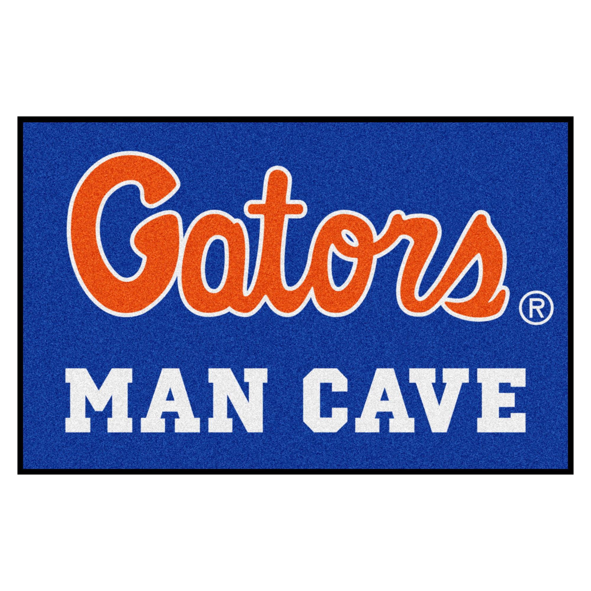 "Florida ""Gators"" Script Man Cave Starter Rug 19""x30"""