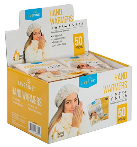 Livefine Hand Warmers � Long-Lasting Air Activated Heat Packs � Up to 10 Hours of Warmth for Outdoor Construction,... by LiveFine