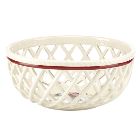 Lenox Winter Greet Dinnerware Open Weave Bread Basket