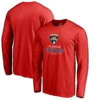 Florida Panthers Team Lockup Long Sleeve T-Shirt - Red