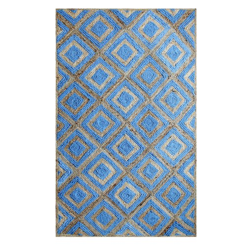 Affinity Linens Hand-Woven Cotton Blue Area Rug