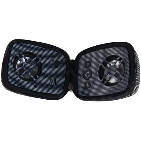 ILIVE BLUE iSB84B Bluetooth(R) Dual Speaker with Zipper (Black)