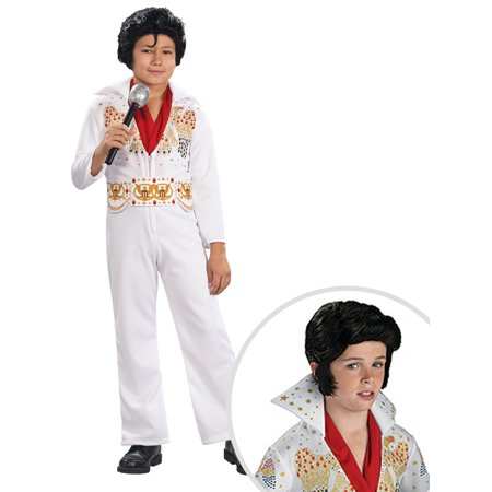 Boy's Elvis Costume and Elvis Wig for - Elvis Wigs For Kids