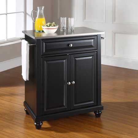 Crosley Furniture Cambridge Stainless Steel Top Portable Kitchen Island