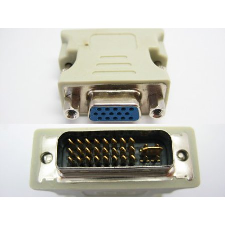 DVI-I Male (24+5) to VGA Female (15-pin) Connector Adapter Dual - Dual Link Connector