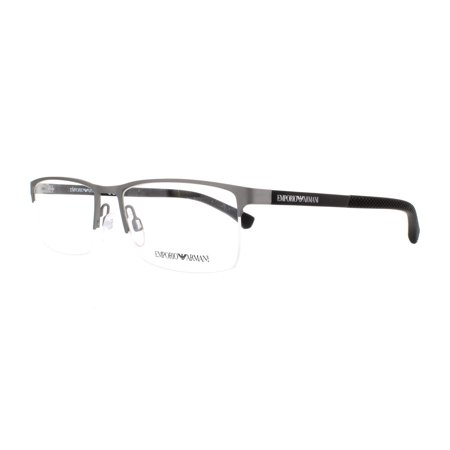 ffde45e23192 EMPORIO ARMANI Eyeglasses EA1041 3130 Gunmetal Rubber 55MM - Walmart.com
