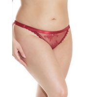 Womens Plus Size Full Back Ruched Lace Elastic Adjustable Waist Panty Underwear