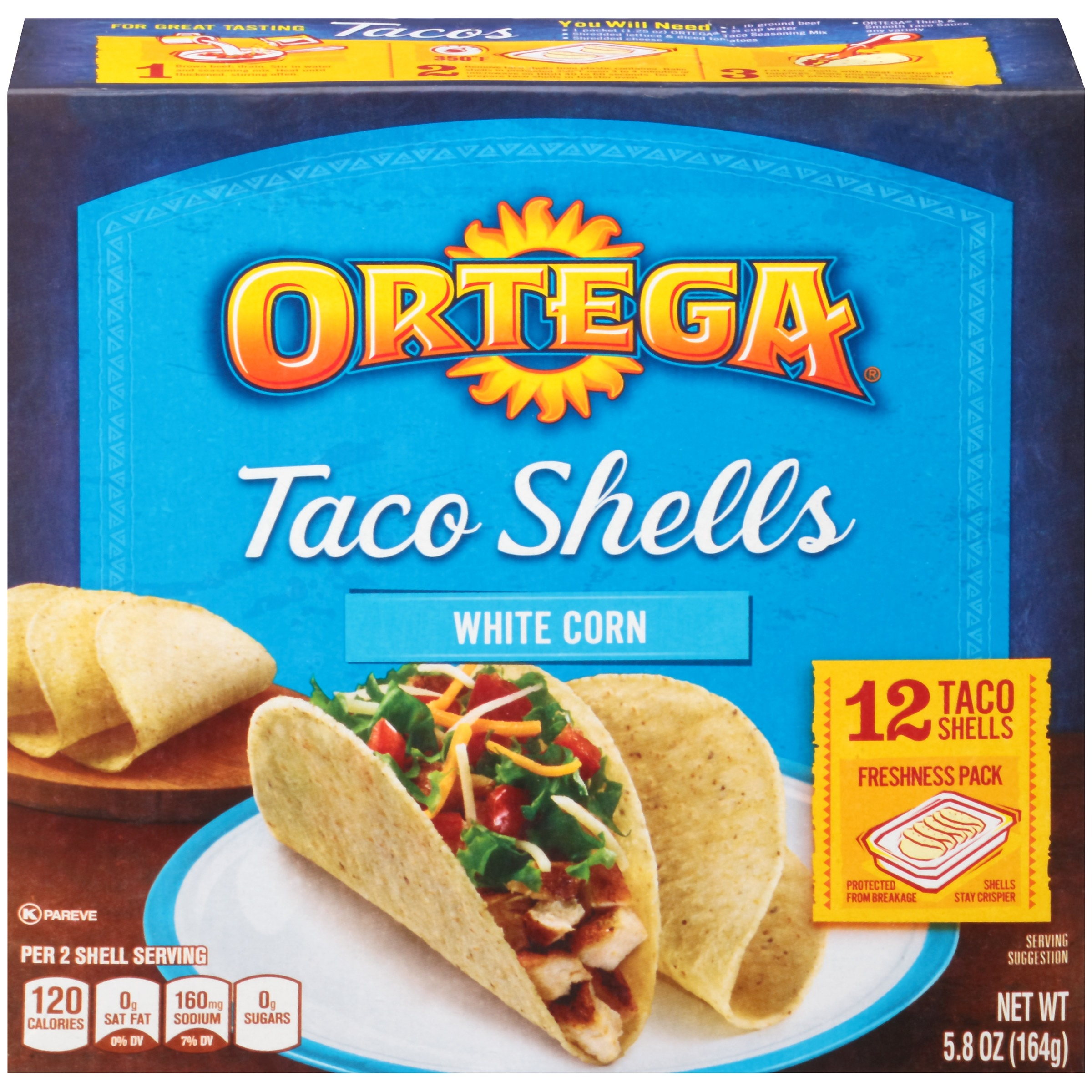 Ortega® White Corn Taco Shells 5.8 oz. Box