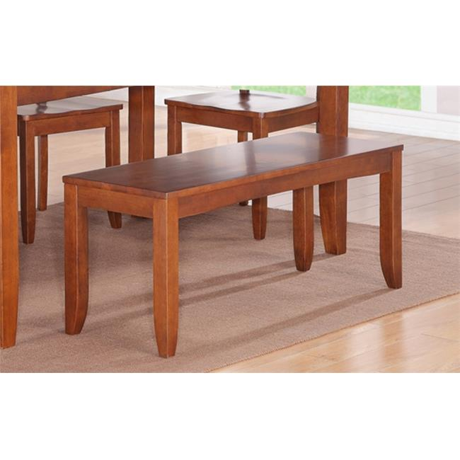 Wooden Imports Furniture LY6-ESP-LC 6PC Lynfield Rectangular Dining Table with Butterfly leaf & 4 Faux Leather upholstered Seat & 1 Bench in Espresso Finish