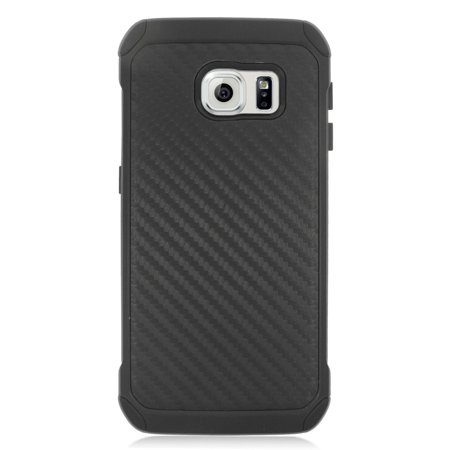 Insten Carbon Fiber Hard Hybrid Dual Layer Case For Samsung Galaxy S6 Edge - Black - image 4 of 4