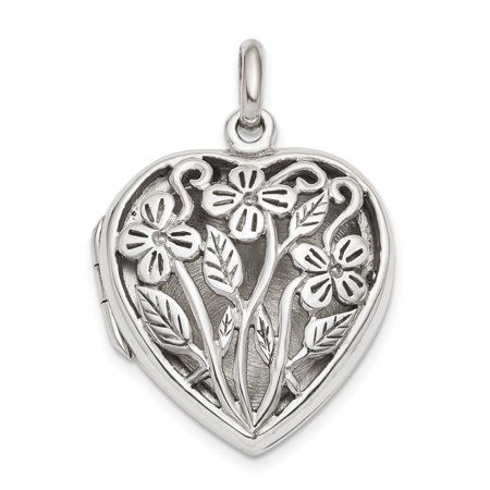 925 Sterling Silver Heart Photo Pendant Charm Locket Chain Necklace That Holds Pictures Box Chain I2 I3 Stone