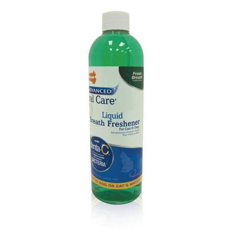 Nylabone Advanced Oral Care Liquid Breath Freshener for Dogs & Cats, 16 Oz bottle