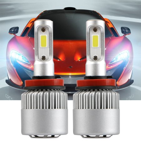 TSV H11 9006 LED Headlight Bulb All-in-One Conversion Kit COB Chips 36W  8000LM 6500K Cool White LED Headlamps Extremely Bright