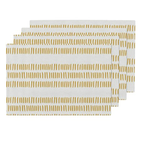 Cloth Placemats Gold Stripes Stripes Modern Farmhouse Tribal Trendy Set of (Best Place To Farm Wow Gold)