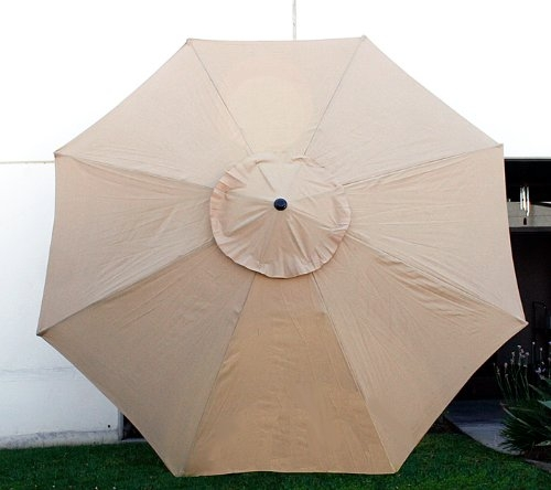 Etonnant New MTN G 11u0027 FT Market Patio Garden Umbrella Replacement Canopy Canvas  Cover Tan