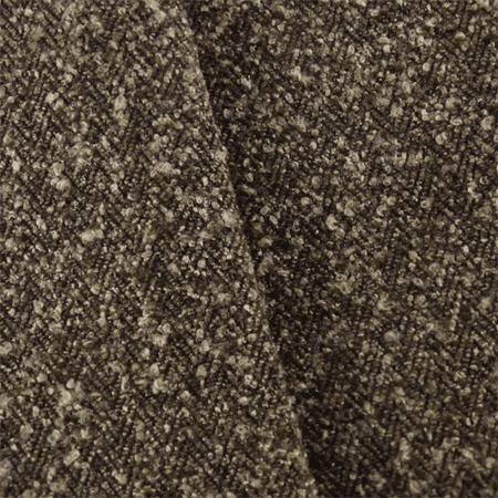 Dark Brown Herringbone Boucle Upholstery Fabric By The Yard