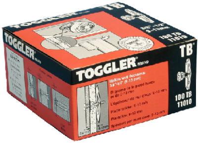 MECHANICAL PLASTICS CORP Toggler 100-Pack 3 8 x 1 2-Inch Shelving Wall Anchors by MECHANICAL PLASTICS CORP