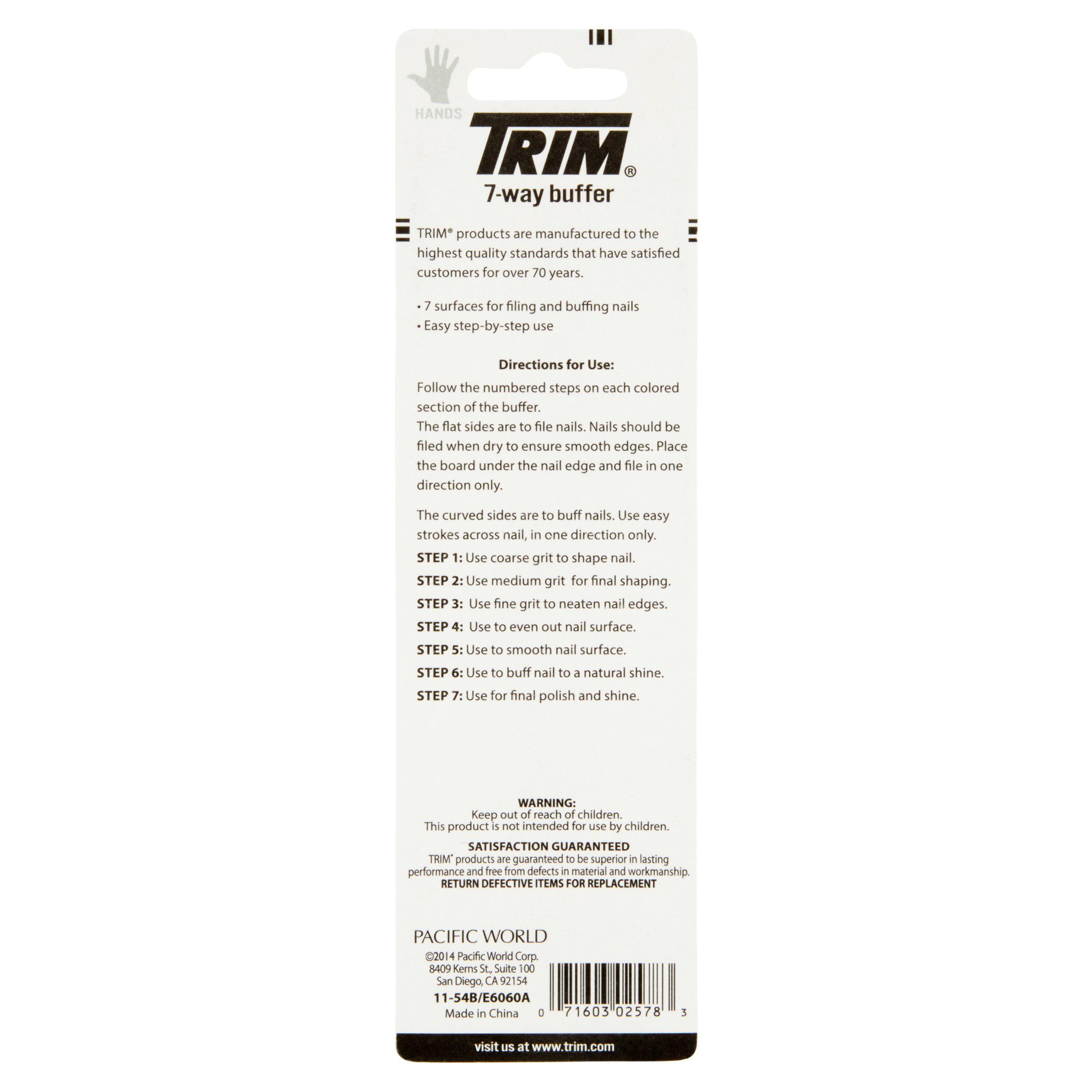 Trim Nail Care 7-Way Buffer - Walmart.com