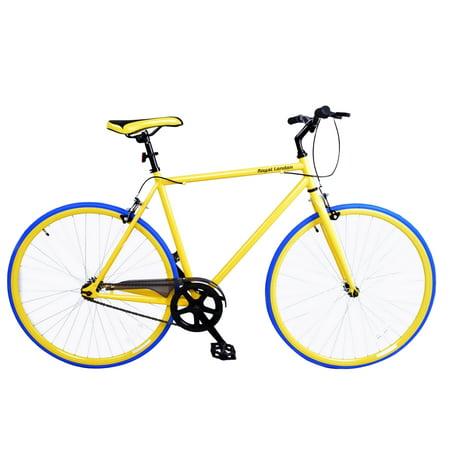 Royal London Fixie Fixed Gear Single Speed Bike - Yellow/Blue ()