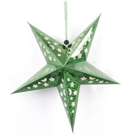 AkoaDa Ornament Christmas Jewelry Laser Hollow Paper Three-Dimensional Five-Pointed Star Pendant  Christmas Decoration ()