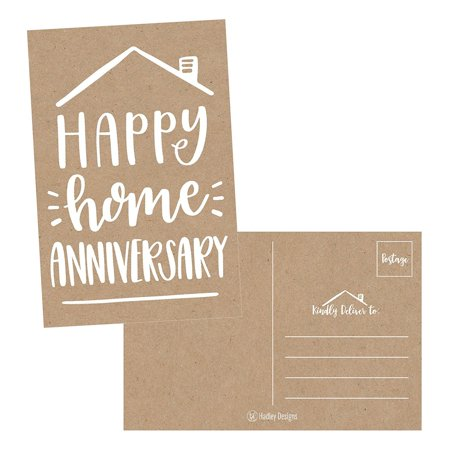 25 Kraft Happy Home Anniversary Realtor Cards, Blank Greeting House Postcards, Bulk Real Estate Thank You Notes, Welcome Home Realtor Gifts Stationery, New Realtor Gifts For Clients, Housiversary Card](Happy Halloween Postcards)