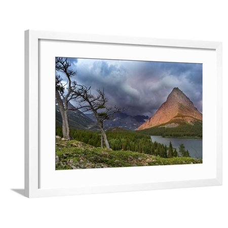 Grinnell Point over Swift Current Lake in Glacier National Park, Montana Framed Print Wall Art By Chuck