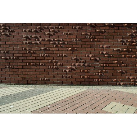 Canvas Print Cement Old Brick Floor Wall Painted Background Stretched Canvas 10 x 14